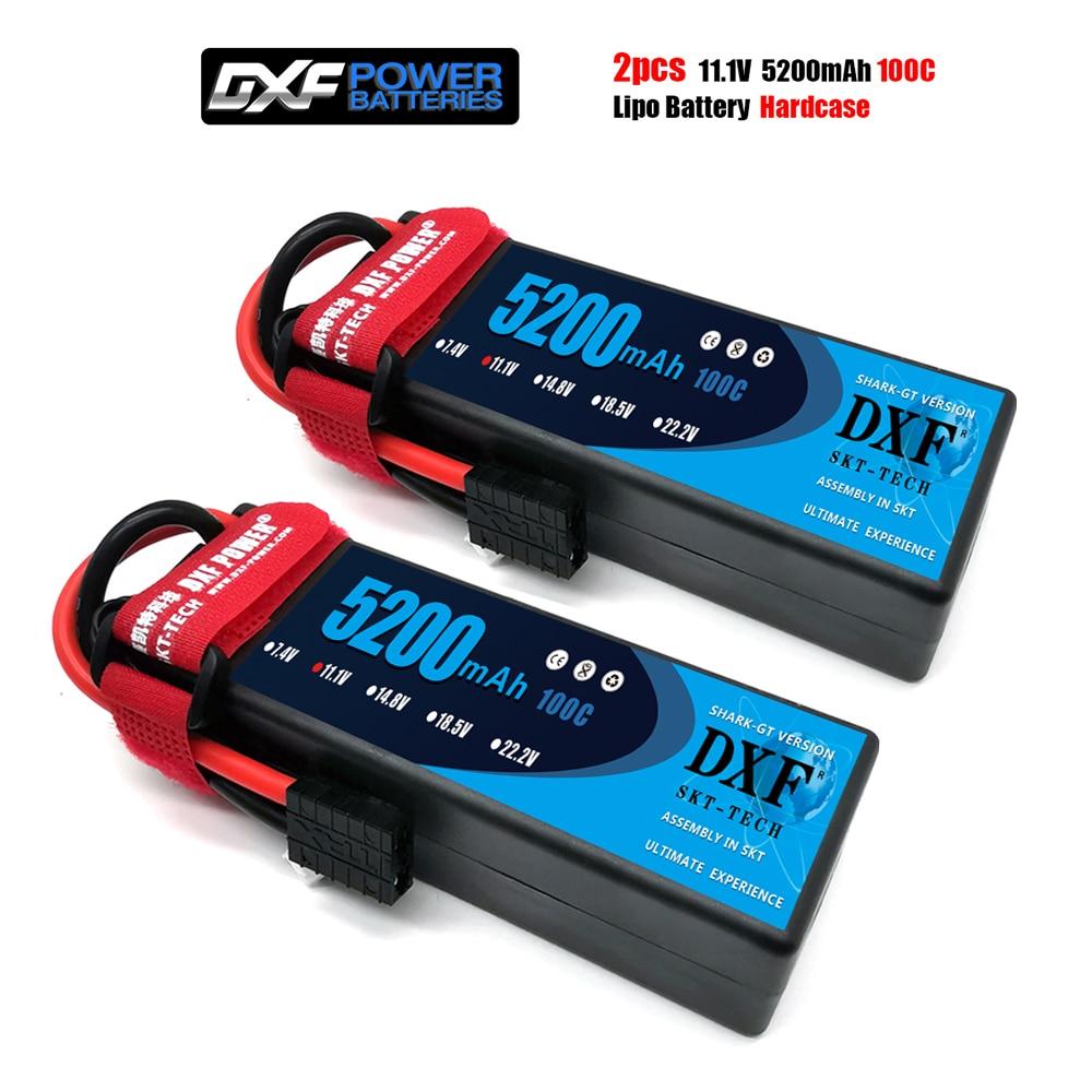 DXF 3S 11,1 mah 5200 V 100C MAX200C batería Lipo Hardcase 1/10 Escala de 1/8 para TRXXX barra 4x4 RC coche duro caso