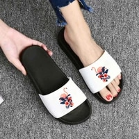 flamingo slippers women beach casual sandals female indoor flip flops ladies soft slides shoes woman slippers house slippers