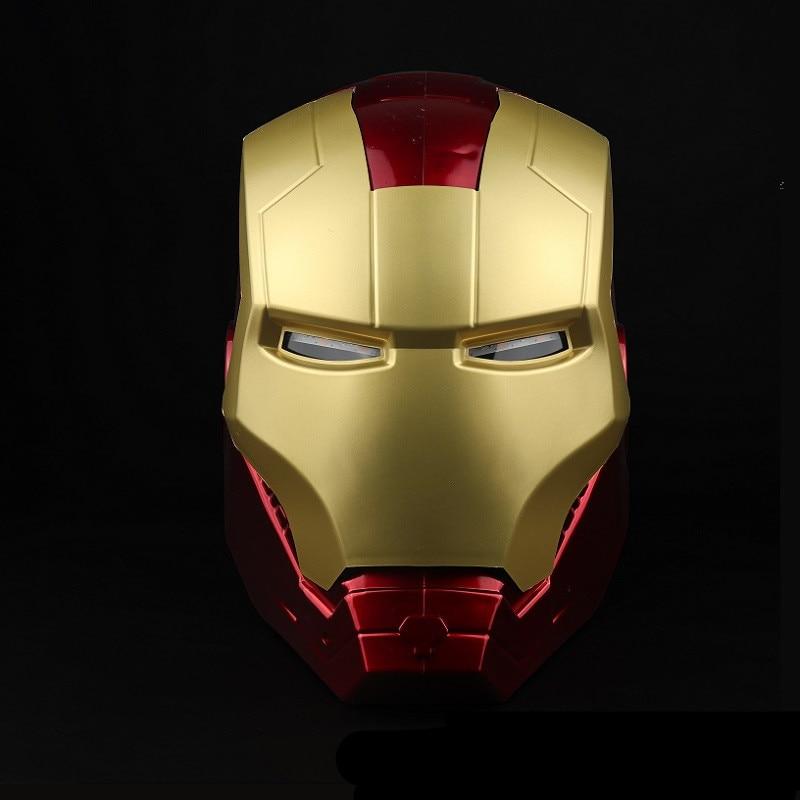 Iron Man Super Hero Helmet Headdress 1/1 Eyes Can Glow Wearable Model Cosplay Props Adult Child Gift  Halloween