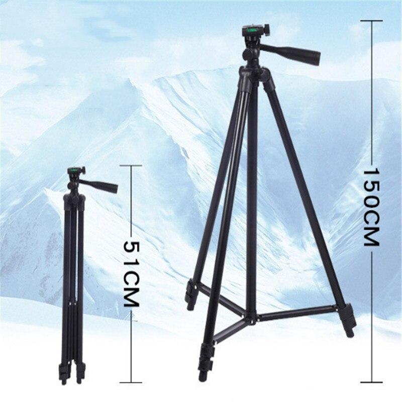 Câmera profissional tripé suporte de montagem para canon nikon sony dslr câmera filmadora com bolsa transporte para a câmera do telefone