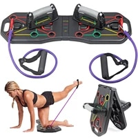new multi function foldable push up board resistance bands pull rope push up stand board bodybuilding exercise workout equipment