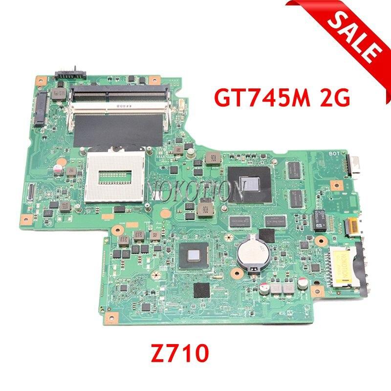 NOKOTION 11S90004565 DUMBO2 Z710 Laptop motherboard PRINCIPAL BOARD Para Lenovo ideapad 17.3 polegada GT745M 2G GPU GMA HD 4600 DDR3L