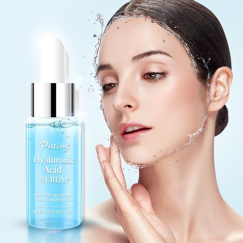 Péptidos de colágeno de suero de ácido hialurónico PUTIMI crema de suero facial antiedad elevación de arrugas reafirmante blanqueamiento hidratante cuidado de la piel