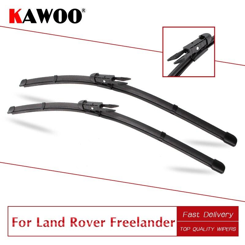 Kawoo para land rover freelander l314 l359 carro de borracha windshiel limpa lâminas de 1997 a 2014 ajuste u gancho/pitada tab braços