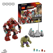 Décool 7110 Fit Marvel 76031 Super héros Avengers Hulk Buster Smash Set Ironman Mini figurines 248 pièces blocs de construction jouets cadeau