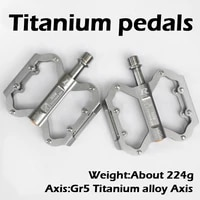 tito titanium bicycle pedals ultralight 3 bearing titanium alloy mtb road bike pedals 224g 1 pair mountain bicycle accessories