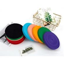 1cm 2cm Multi Color Herringbone Tape Ribbons 100% Cotton Woven Ribbon Sewing Overlock Cloth Strap Belt DIY Accessories 5meter