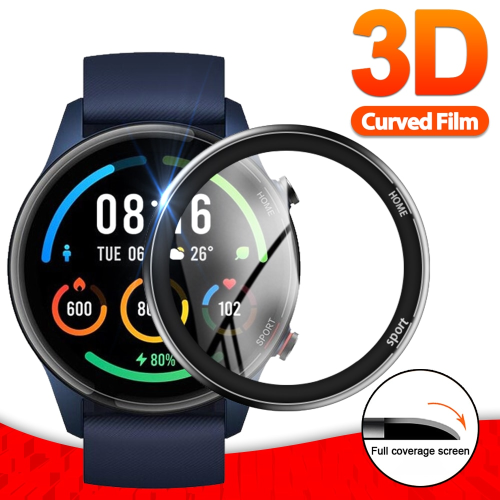 3D Soft Fibre Glass Protective Film Cover For XiaoMi Watch Color Sports Full Screen Protector Case for Mi Watch Color Sports transparent screen protector for xiaomi smart sports watch