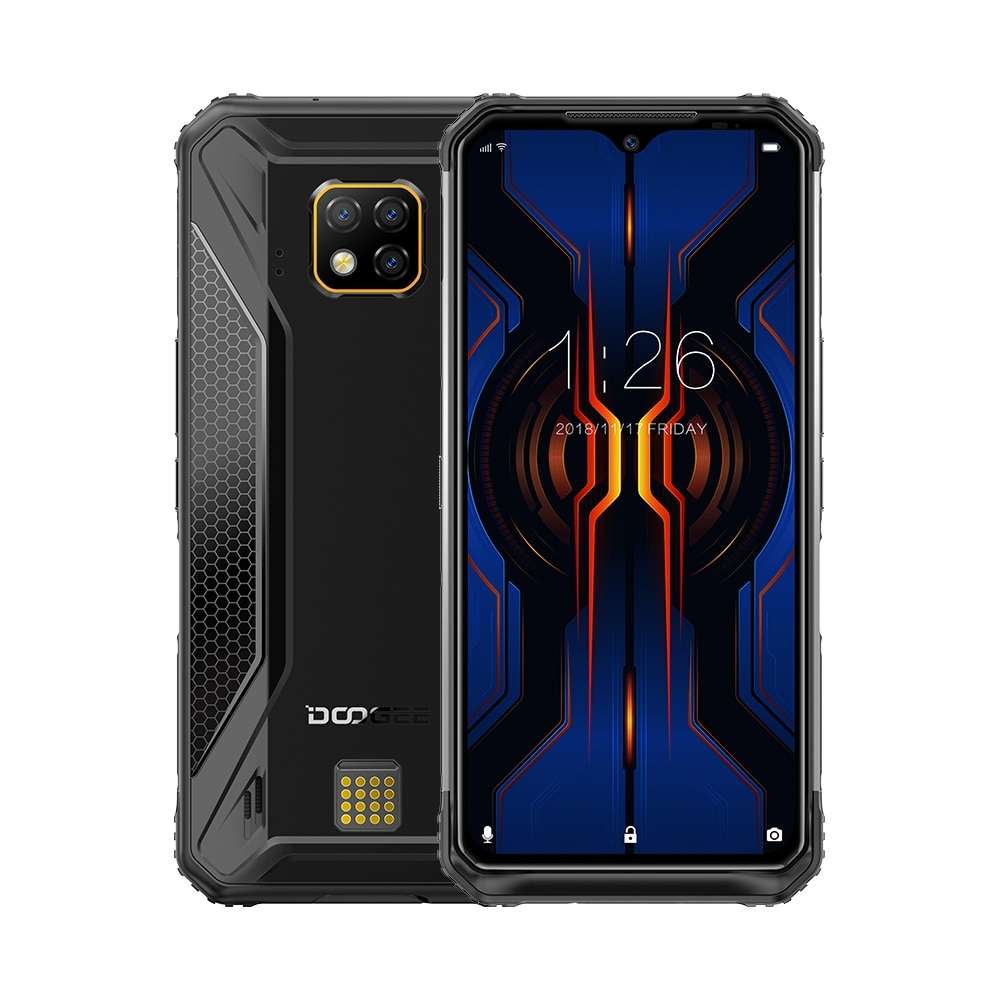 "DOOGEE S95 Pro IP68/IP69K Rugged Phone Android 9.0 Pie Helio P90 Octa-Core 8GB RAM 128GB ROM 6.3"" FHD+ Display 48MP Cams Wireles"