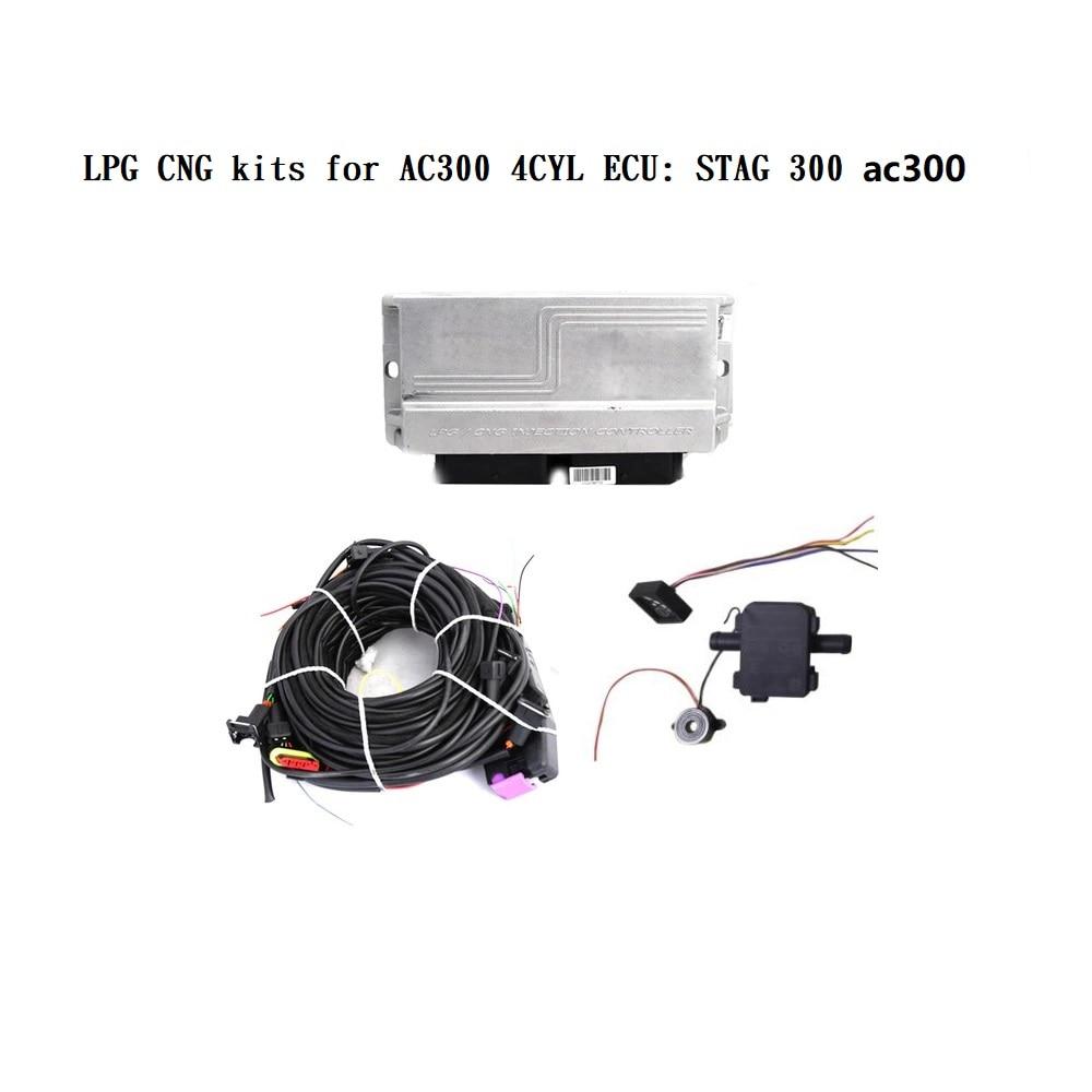 LPG CNG kits para AC300 4CYL ecus de 300 ISA2
