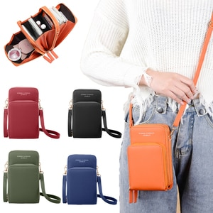 3 Pockets Messenger Bags Women Shoulder Bags 2020 Phone Wallet Big Capacity Ladies Crossbody Bags Leather Tote Bag Female Purse