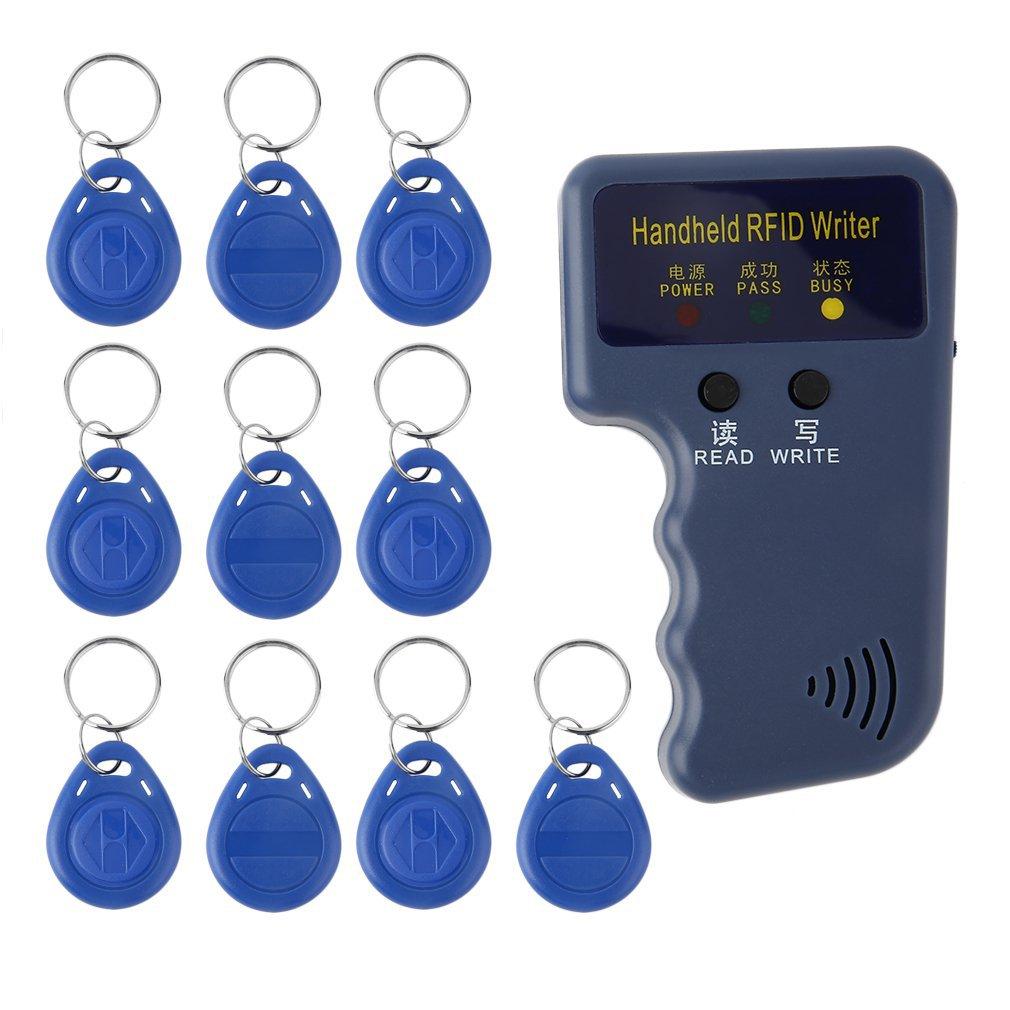 Ручной 125 кГц RFID ID карты копиры писатель Дубликатор Программист читатель матч с возможностью записи EM4305 ID брелков теги карты Ключевые карты