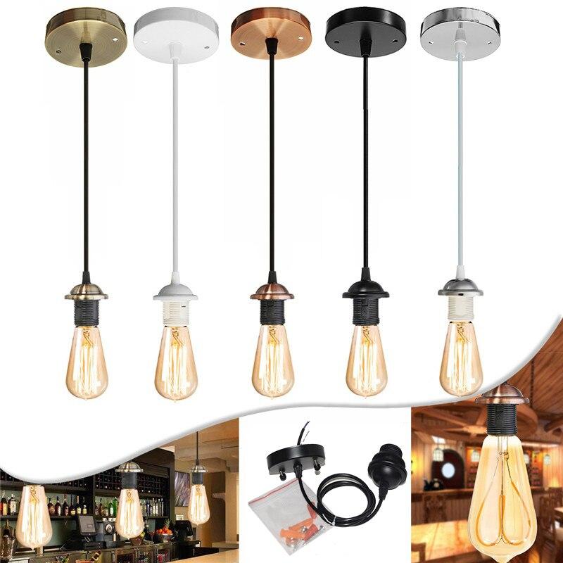 Потолочный подвесной светильник с цоколем E27, винтовой держатель лампы с проводом для лампы, замена светильника Vin (без лампы)
