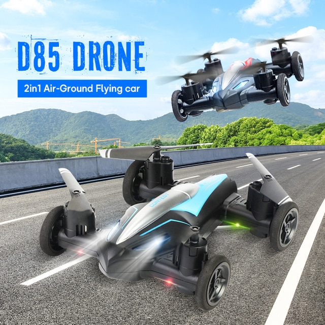 Eachine D85 2in1 Dron Air-Ground Flying Car 2.4G Dual Mode Racing Mini Drone Professional RC Car Quadcopter Drones Children Toys