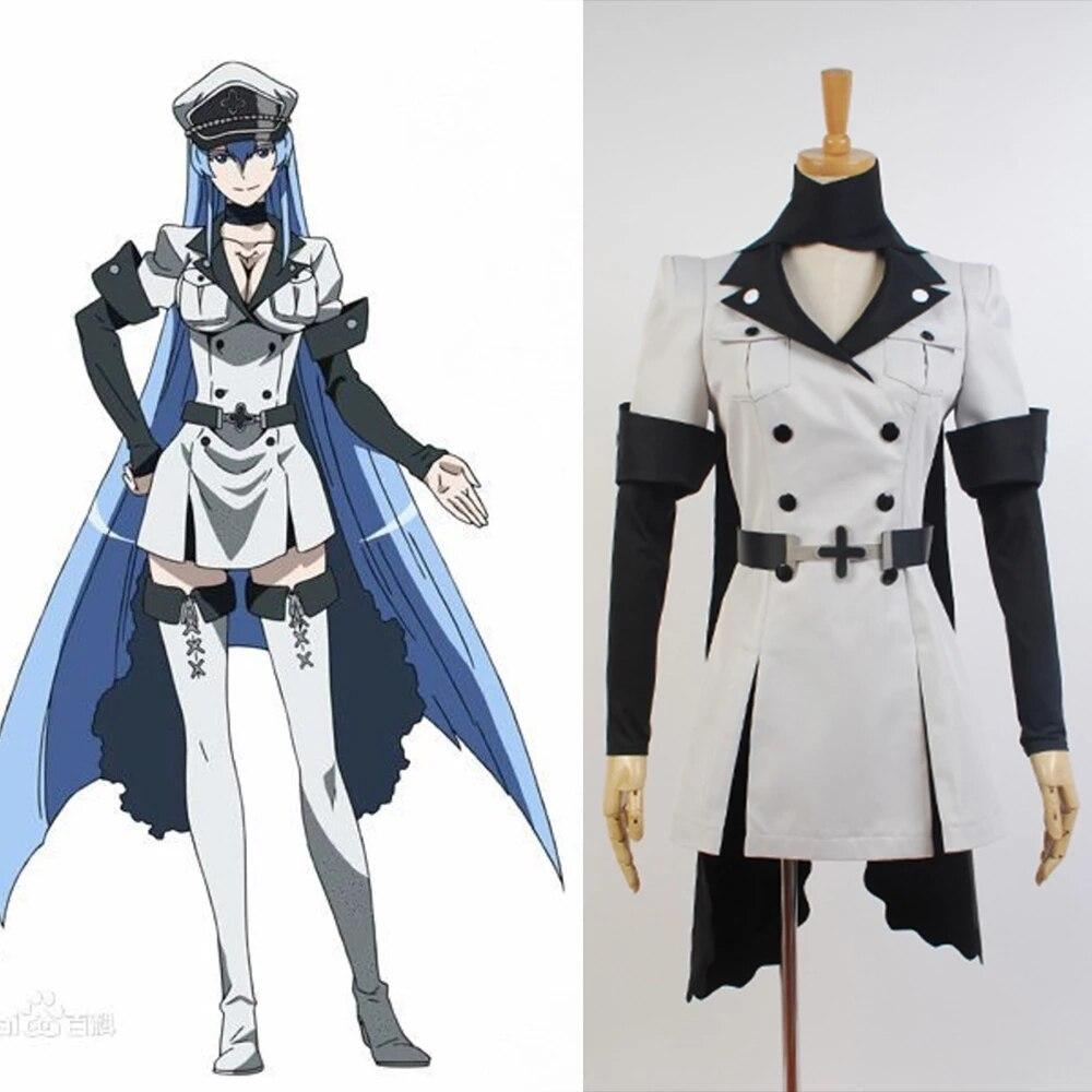 Cosplay Akame ga matar Esdeath imperio conjunto uniforme full disfraz de Cosplay...