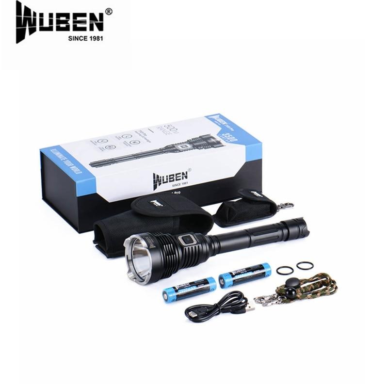WUBEN T101 Pro 3500 Lumens Flashlight CREE XHP70.2 LED with 2 pcs 18650 high-drain Li-ion batteries enlarge