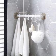 Ванная Кухня Посуда полотенца Крючки вешалка с 6 шт. крючки самоклеющиеся Бескаркасный крюк