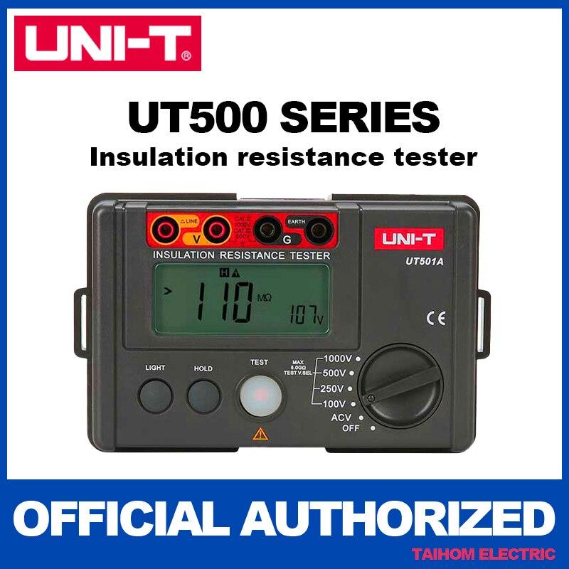 UNI-T UT501A الرقمية العزل المقاومة متر فاحص Megohmmeter عالية الفولتميتر اختبار الاستمرارية ث/LCD الخلفية