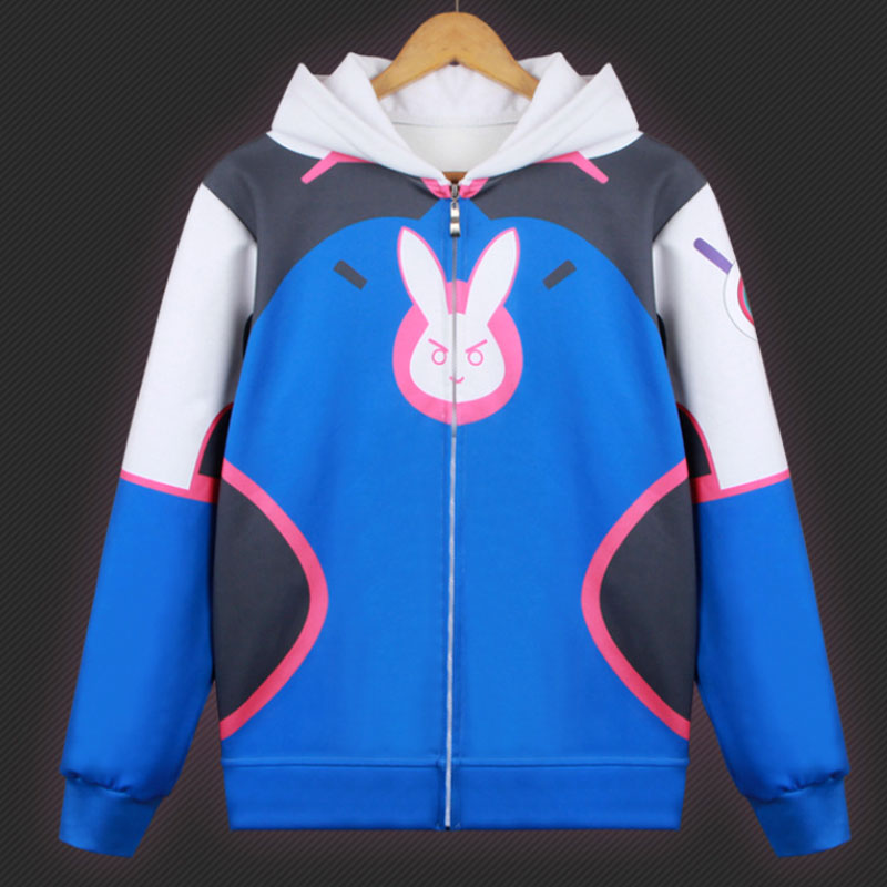 DM COS nuevo Anime Overwatch suéter de cosplay abrigo DVA Song Hana suéter de cosplay con capucha cremallera hombres y mujeres abrigo traje de vacaciones