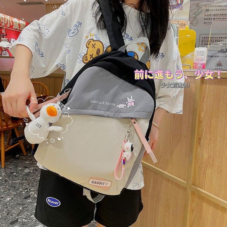 Корейский рюкзак в стиле преппи, Женский студенческий рюкзак, нейлоновые рюкзаки, школьные ранцы для девочек-подростков, рюкзаки в стиле пэ...
