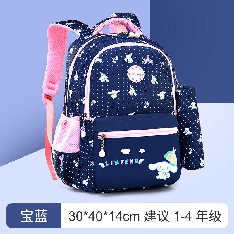 Mochilas escolares para niños, mochilas escolares de princesa, impermeables, con cremallera, 2021
