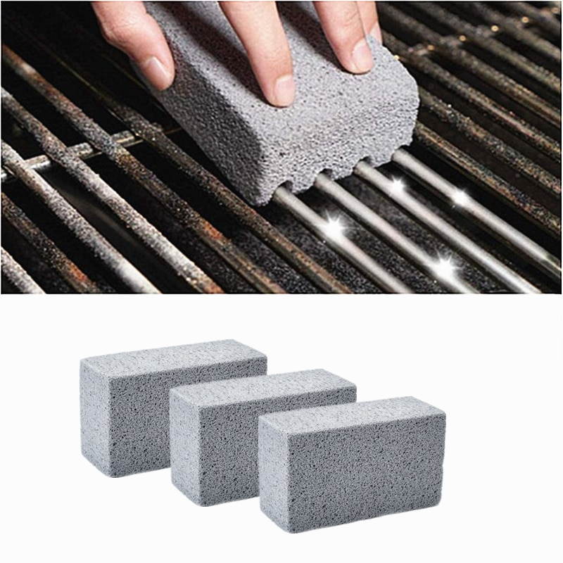 BBQ Accessories Tools BBQ Grill Cleaning Brick Block Barbecue Cleaning Stone BBQ Racks Stains Grease Cleaner Kitchen Gadgets