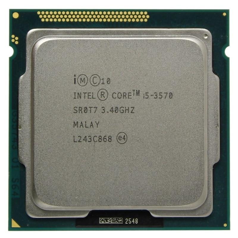 Intel i5 processor 3570 quad core desktop, 3.4 GHz L3 = 6m 77W socket LGA 1155, working 100%
