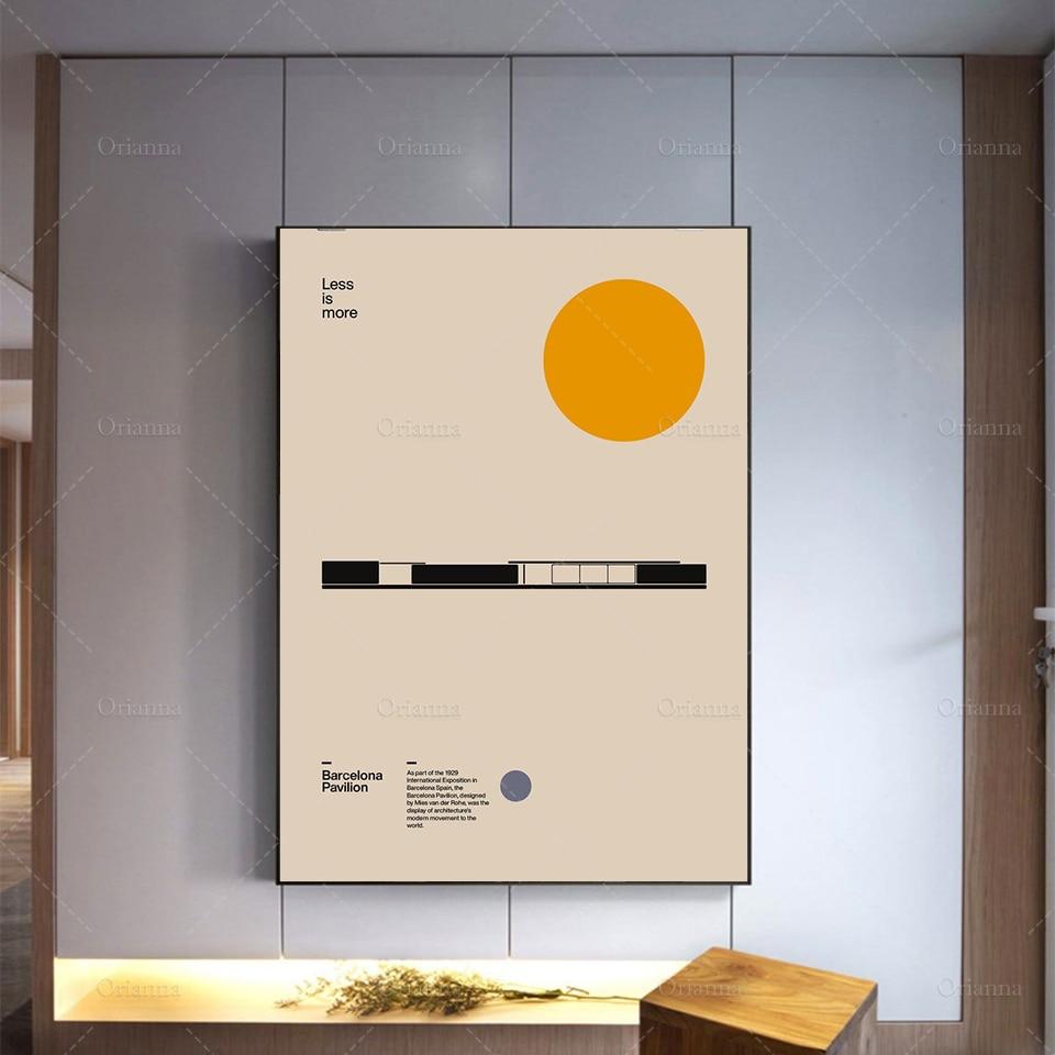 Póster con diseño de arquitectura minimalista para decoración del hogar, pósteres de...