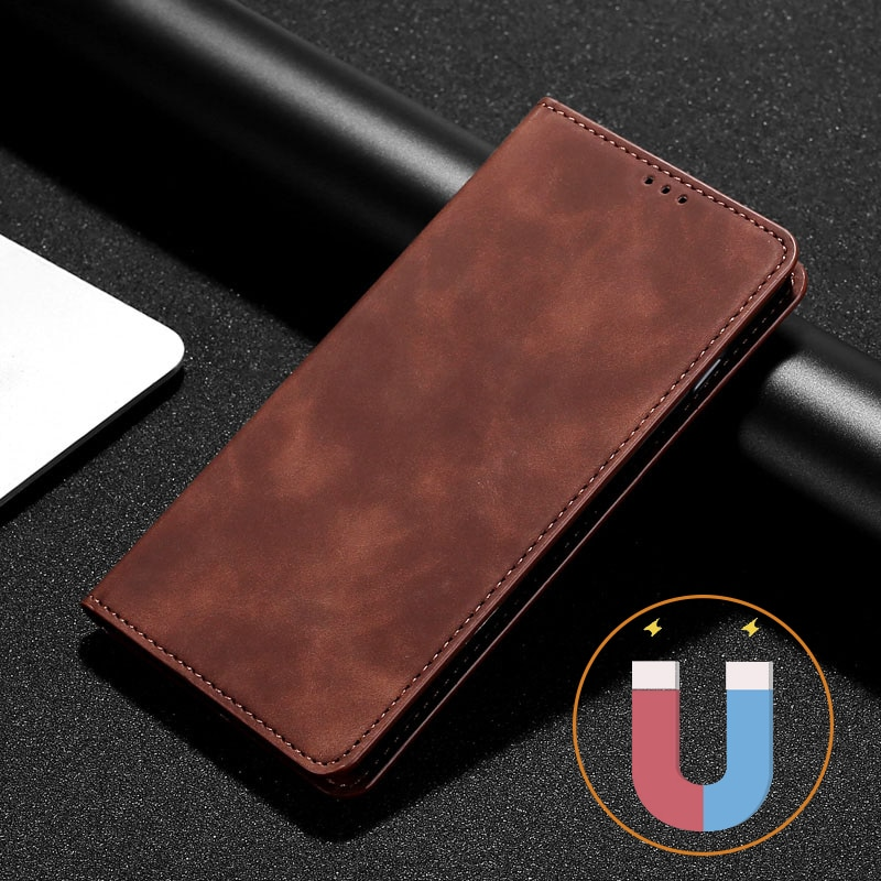 Simple Flip Leather Case For Xiaomi Redmi Note 4 4X 5 6 7 8 9 8T 9T Pro 2 3 4 Magnet Phone Case redm