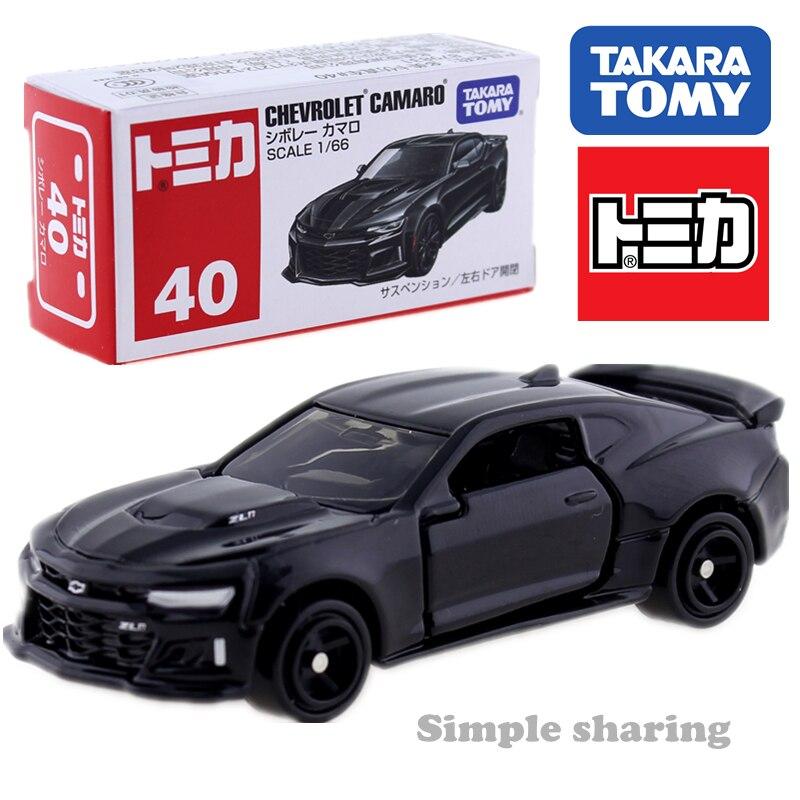 Takara Tomy Tomica No.40 GM Chevrolet Camaro negro 1/66 Alien Diecast, Kit de modelos novedosos, coleccionables, juguetes para bebés en miniatura, Pop 2018