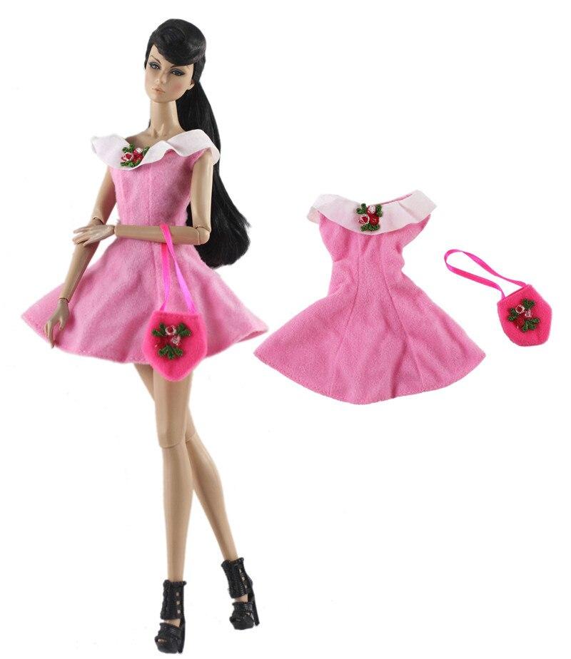 Модные Розовые наряды для кукол Барби CD FR Kurhn BJD аксессуары для кукольного домика ролевые игры