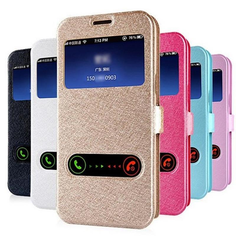 Suporte De Couro Da Aleta inteligente Window View Limpar Phone Case Para iphone 4 4S 5 5S SE 6 7 6S 8 11 Pro X XS XR MAX Plus Case Capa Voltar