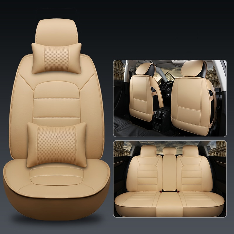 LCRTDS Universal cubierta de asiento de cuero de coche para suzuki escudo grand vitara kizashi lgnis liana vitara de 2018, 2017, 2016, 2015
