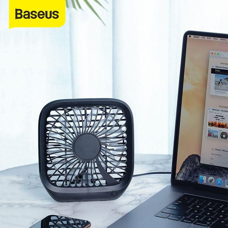 Mini ventiladores USB plegables Baseus, ventilador enfriador de asiento trasero de coche, ventilador enfriador de aire portátil para viaje en casa, reposacabezas de coche, ventiladores de escritorio de oficina