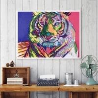 diamond painting cartoon simulation tiger cross stitch rhinestone embroidery home decor living room office sticker murals