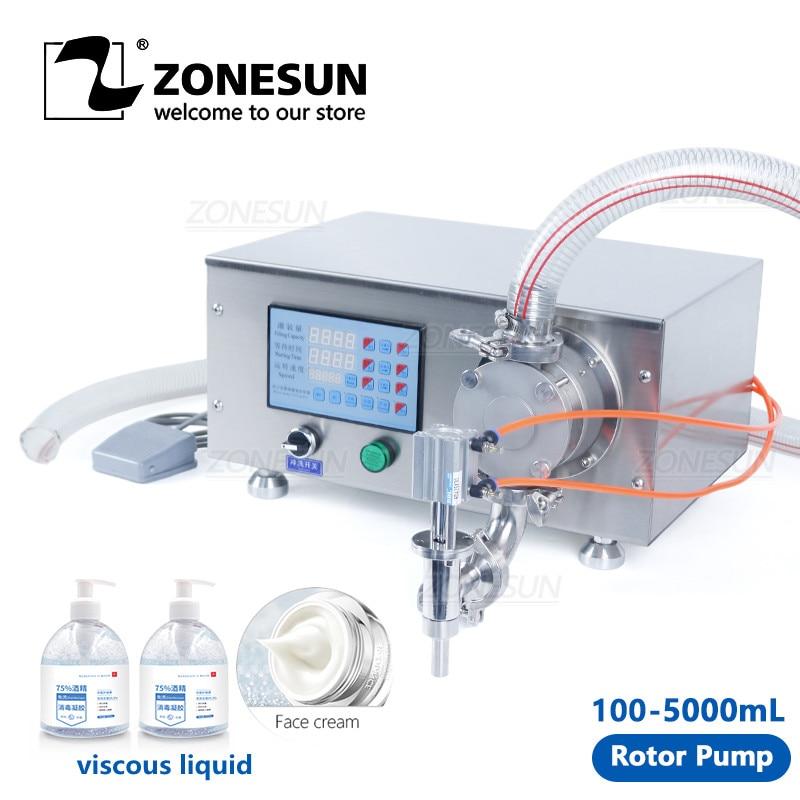 ZONESUN ZS-RPYT900 Semi-Automatic Gel Laundry Detergent Hand Sanitizer Rotor Pump Liquid Filling Machine Water Bottle Filler