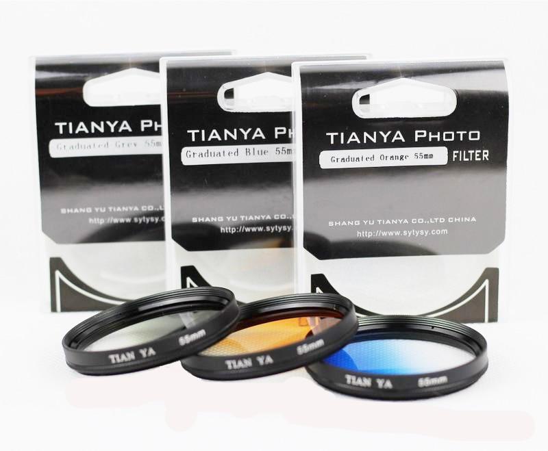 3 шт. 40,5 49 52 55 58 62 67 72 77 82 мм градиентный цвет серый оранжевый синий комплект фильтр объектива для камеры canon nikon sony