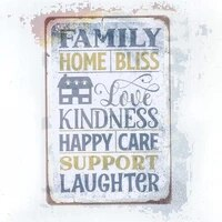 j dxhya tin poster metal sign wall with family quote vintage funny family decoration s wall decor 8x12 inch plaque retro signs