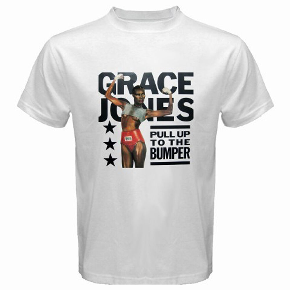 Nova grace jones famosa cantora atriz menaposs branco camiseta tamanho s m l xl 2xl 3xl