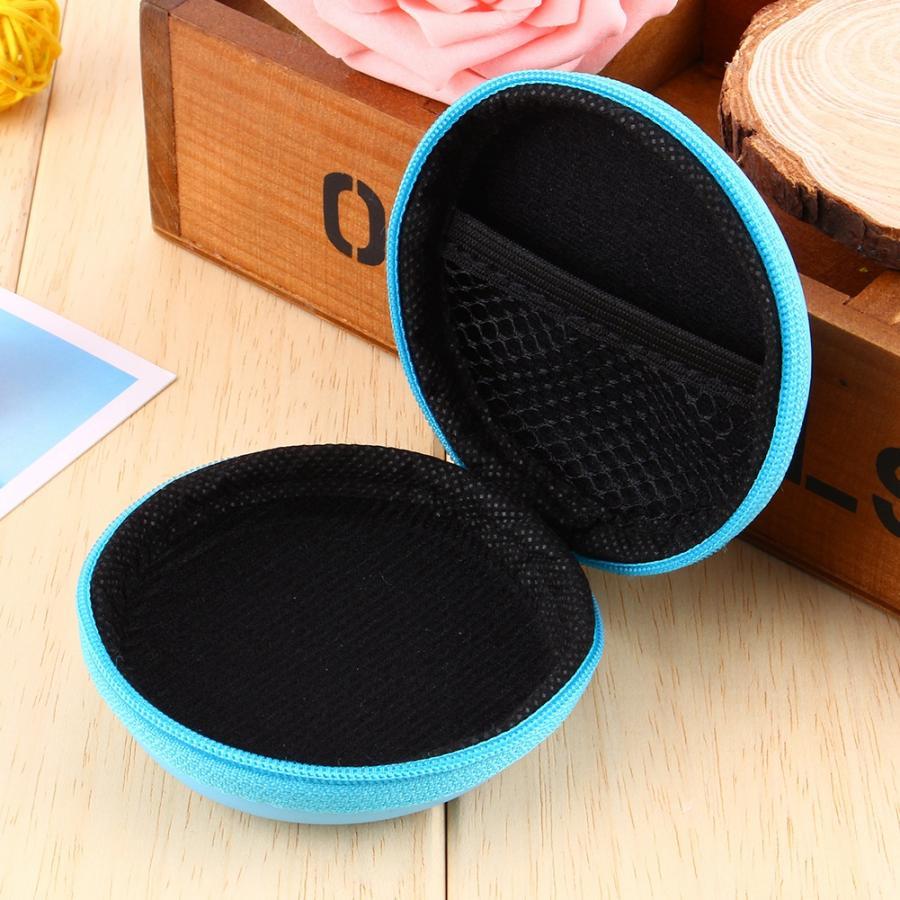 soft case Case for headphone bag, Mini Hard pocket case for headphone storage Headphones Headphones SD TF Card cellphone case