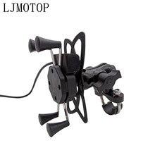 Support de guidon pour Smartphone GPS   Pour dénicheur THRUXTON TIGER 800 1050 XC/XCX/XR TT 1200 support de téléphone de moto avec USB tout