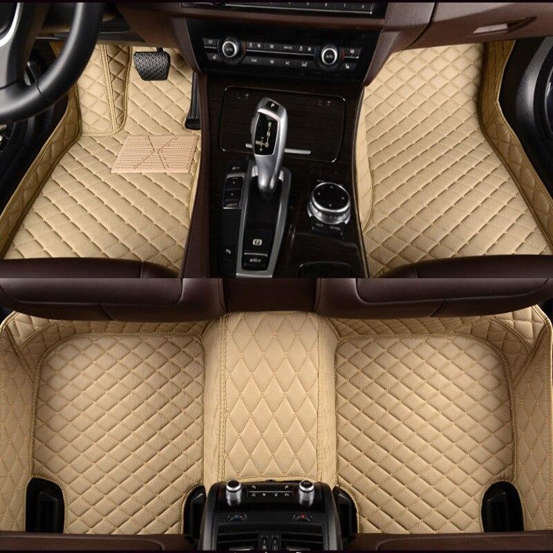 Alfombras de coche personalizadas HLFNTF todos los modelos para peugeot 206 207 301 307 308s 308cc 308sw 408 508 2008 3008 4008 RCZ accesorios de coche