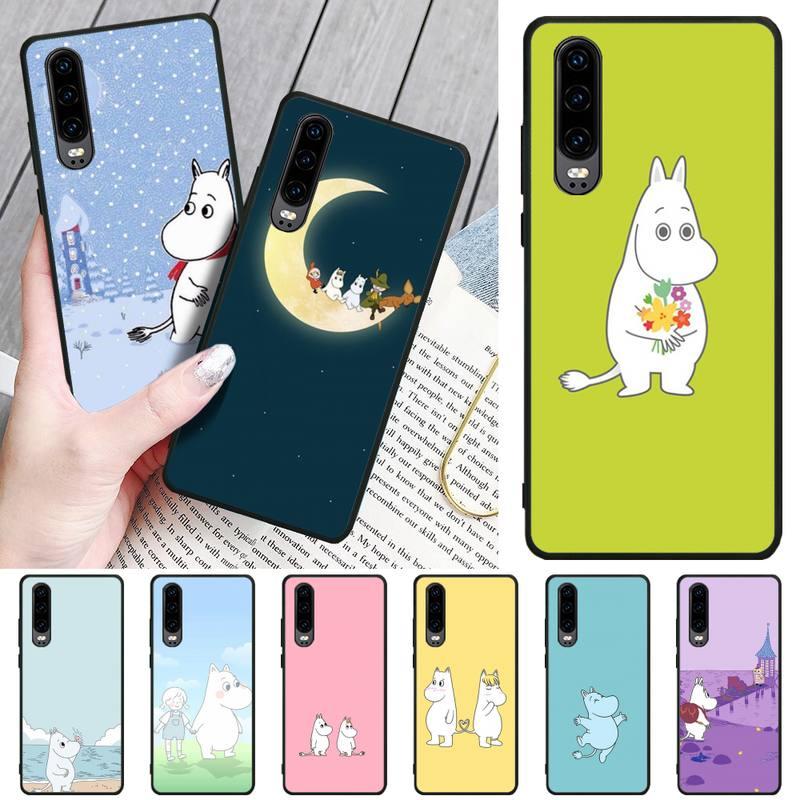 Funda de teléfono hipopótamo moomin con foto personalizada para Huawei P8 lite 2017 P9 P10 20Pro Lite Pro P30lite P Smart 2019