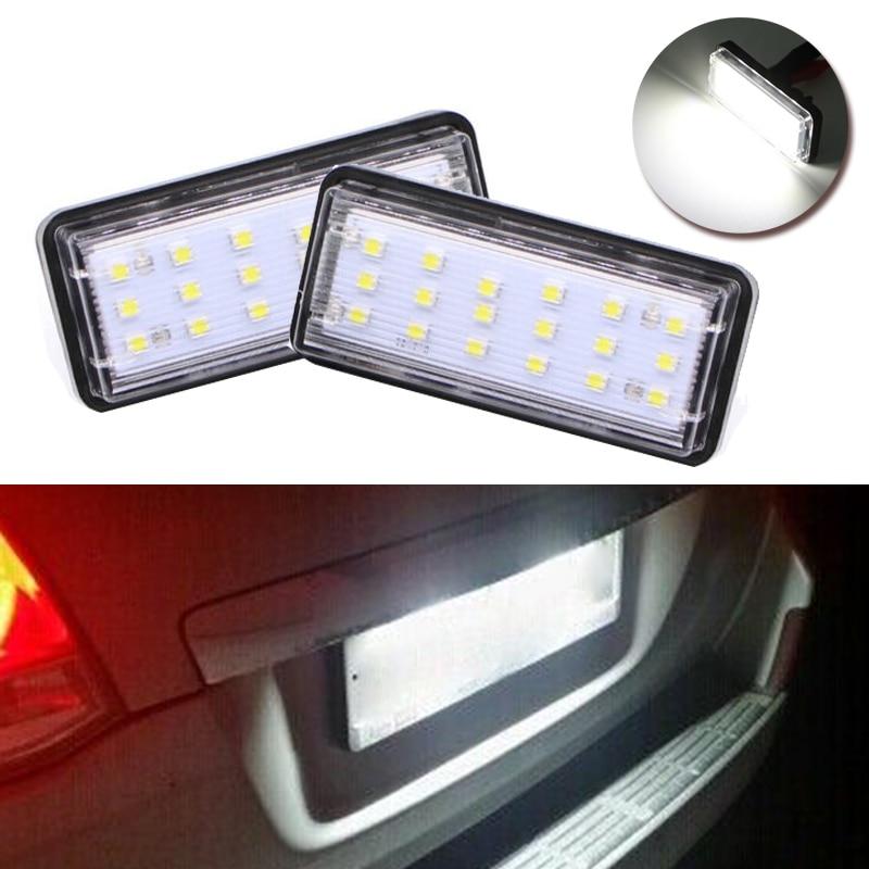 Lámpara de luz LED de matrícula para Toyota J100 J120 J200 Land Cruiser Prado bajo consumo de energía alta eficiencia