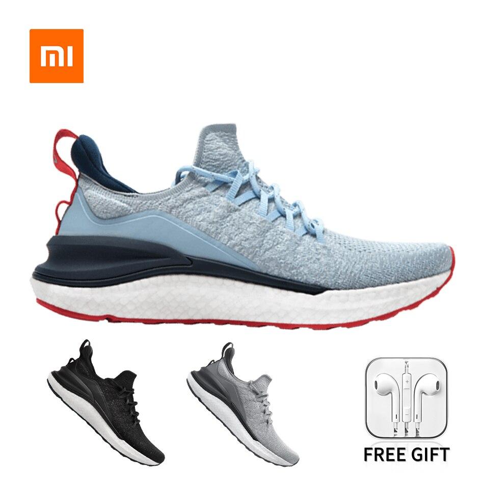 Original Xiaomi Mijia Sneakers 4 Men's Outdoor Sports Uni-moulding 4D Fishbone Lock System Knitting Upper Running Shoes Men Gift