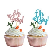 1020pcs oh baby cake topper for wedding birthday party decoration dessert cake decoration insert sign baby shower supplies