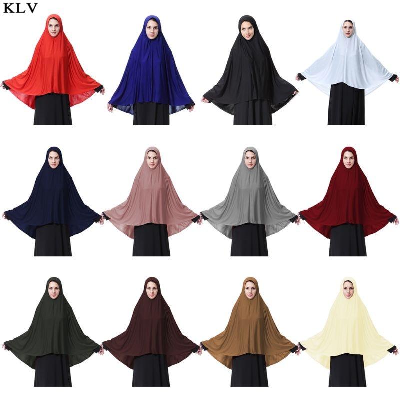 Chal para mujer de fibra de leche Extra larga musulmán hiyab árabe elegante Color sólido islámico oración ligera cabeza chal