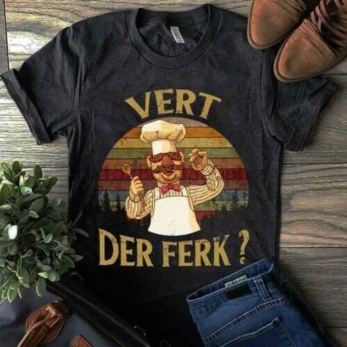 The Muppet Swedish Chef Vert Der Ferk Men Dark Heather T Shirt Cotton S-6XLCartoon t shirt men Unisex New Fashion tshirt