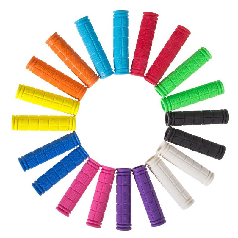 Cubierta de empuñaduras de manillar de goma de 12cm para bicicleta de montaña BMX, manijas de barra antideslizantes para bicicletas, piezas de piñón fijo en 10 colores