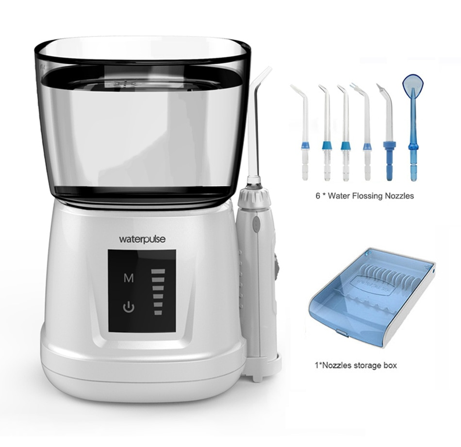V700P IPX7 Touch switch tooth Clean pick massage, Oral Hygiene Water Dental Flosser oral Irrigator + 6 tips + box enlarge
